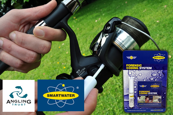 3.SmartWater is applied to a mass produced fishing reel – which is now uniquely identifiable and traceable to its owner: job done.