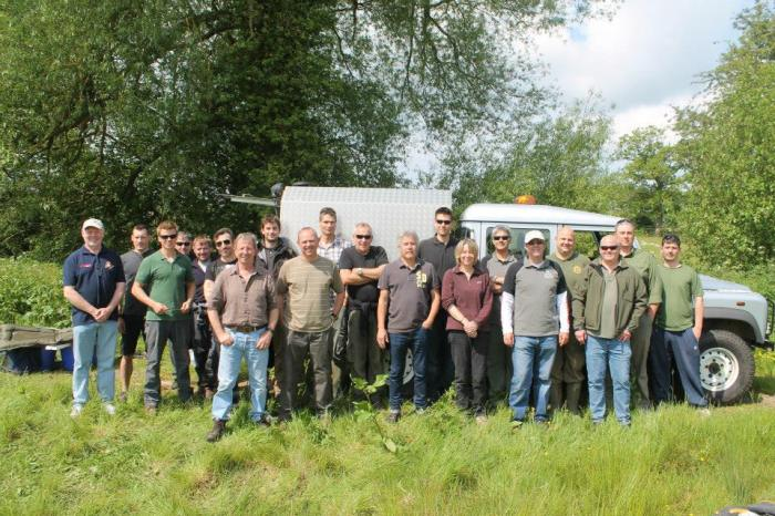 The first batch of Predator Study volunteers assemble ready for training.
