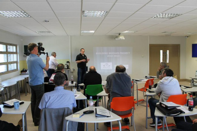 Rado presenting on 'Building Bridges' at a Voluntary Bailiff Service induction and training day.