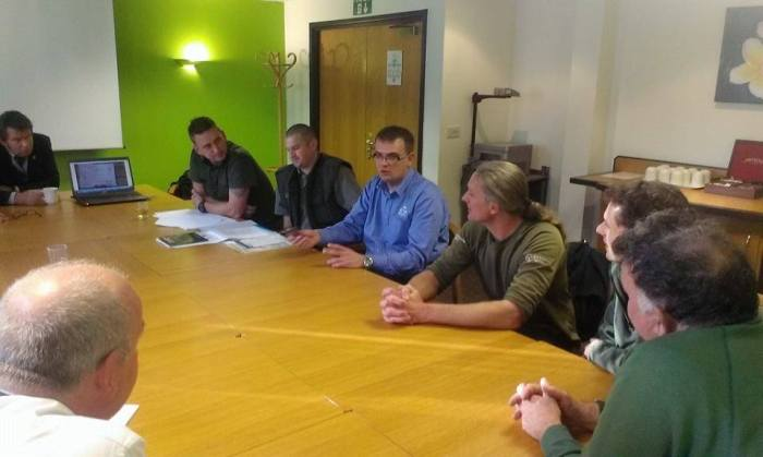 Operation TRAVERSE: Rado Papiewski of the Angling Trust and Polish PSR government fisheries officers briefing EA and police officers in Lincoln