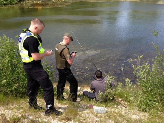 The end result: South Yorkshire Police and an EA officer jointly patrolling recently and reporting an offender on the river Don. The vision is to involve as many forces as possible in joint operations such as TRAVERSE and LEVIATHAN – to stamp out fisheries crime and protect fish and fisheries.