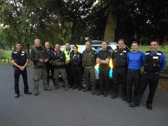 Working together: Operation TRAVERSE. Police officers from Lincolnshire and Nottinghamshire patrolling on the river Trent with EA Fisheries Enforcement Officers in September 2015.