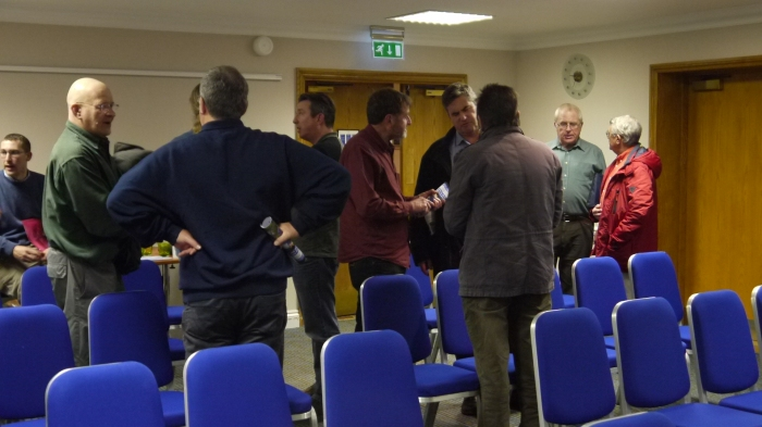 There is always plenty of chat after the forum as anglers and speakers take the opportunity to catch up.