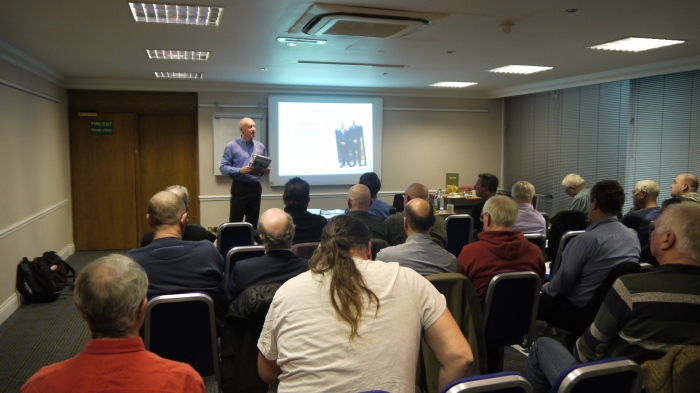 Kevin Pearson the Angling Trust Midlands Region Enforcement Manager presenting at the East Midlands Forum in Nottingham this November.