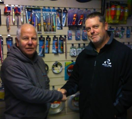 Eastern REM Paul Thomas was in Swindon recently, and although out of his area called in to see Trevor Gunning at Cotswold Angling – the victim of a substantial burglary and tackle theft. This kind of crime – which is organised – is on the increase, so we need to be vigilant. This is why we are in partnership with SmartWater, providing a unique forensic marker for anglers: http://www.anglingtrust.net/page.asp?section=1033