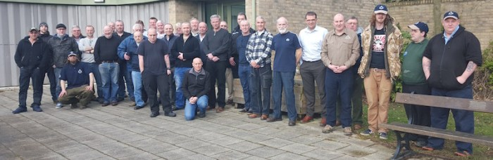 The first intake of NE Volunteer Bailiffs take a break from Induction day training.