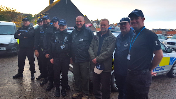 Myself and Volunteers with the police in North Yorkshire