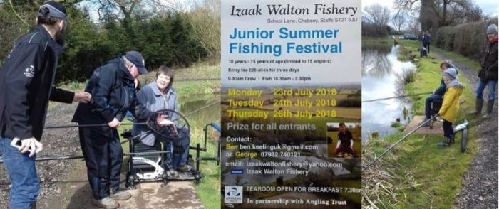Community fishing events coaching Staffordshire