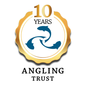 Angling Trust logo 10 year anniversary