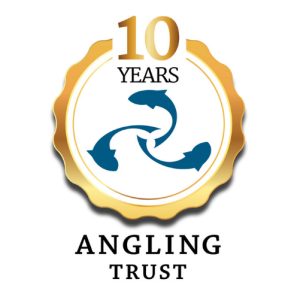Angling Trust logo 10 year anniversary