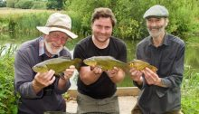 Angling legends Chris Yates Hugh Miles
