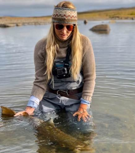 Marina Gibson fly fishing Orvis